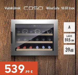 Veinikülmik Caso WineSafe 18 EB Inox