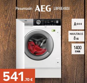 Integreeritav pesumasin AEG L8FBE48SI