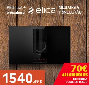 Pliidiplaat + õhupuhasti Elica NIKOLATESLA PRIME BL/F/83