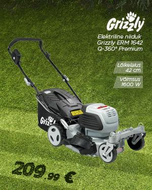 Elektriline niiduk 1600W Grizzly ERM 1642 Q-360 ° Premium
