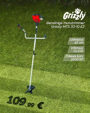 Bensiiniga murutrimmer 1.0kW Grizzly MTS 30-10 E2
