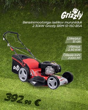 Bensiinimootoriga iseliikuv muruniiduk 2.30kW Grizzly BRM 51-150 BSA